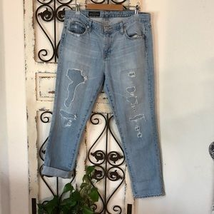 J crew broken in boyfriend distressed jeans